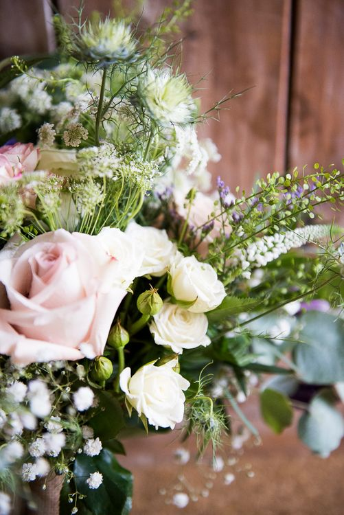 Romantic Wedding Flowers | Coastal Wedding at Driftwood Spas St Agnes, Cornwall | Jessica Grace Photography