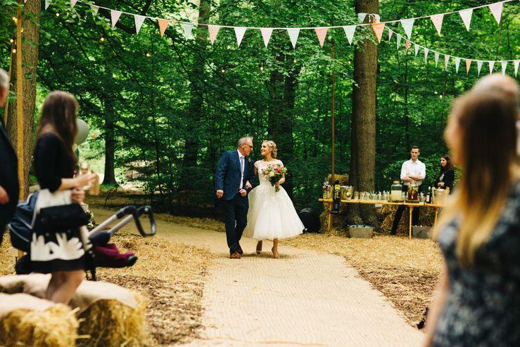 Outdoor Wedding Ceremony Bridal Entrance