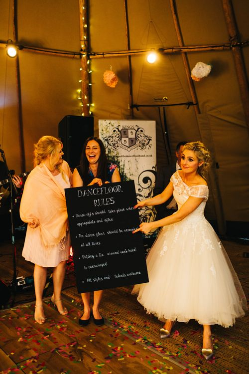 Dance Floor Rules Wedding Sign