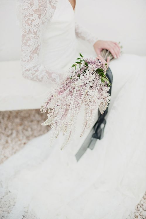 Pink Astilbe Wedding Bouquet