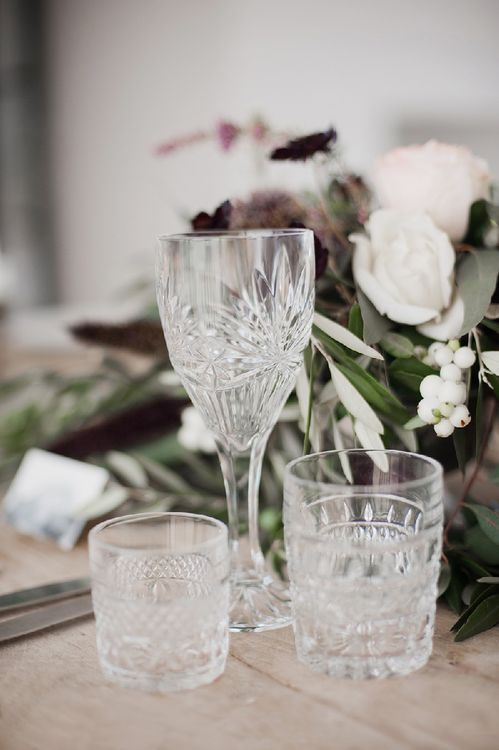 Elegant Glassware For A Wedding Tablescape