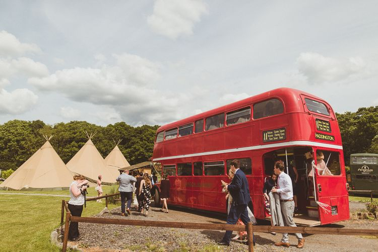 Red Bus | PapaKåta Tipi at Angrove Park North Yorkshire | Matt Penberthy Photography