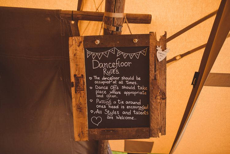 Blackboard Wedding Sign | PapaKåta Tipi at Angrove Park North Yorkshire | Matt Penberthy Photography
