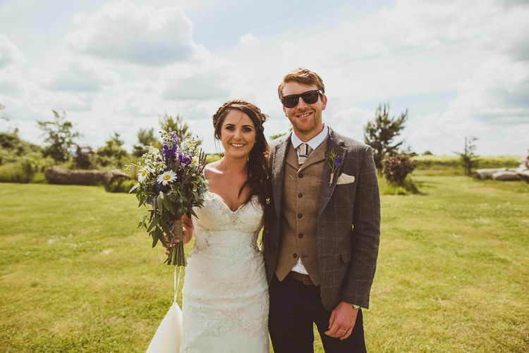 Bride & Groom | PapaKåta Tipi at Angrove Park North Yorkshire | Matt Penberthy Photography