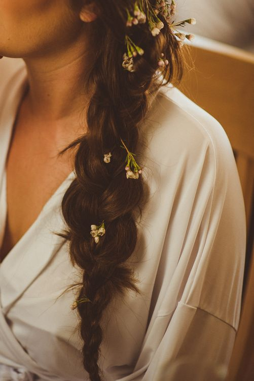 Side Braid with Flowers | PapaKåta Tipi at Angrove Park North Yorkshire | Matt Penberthy Photography