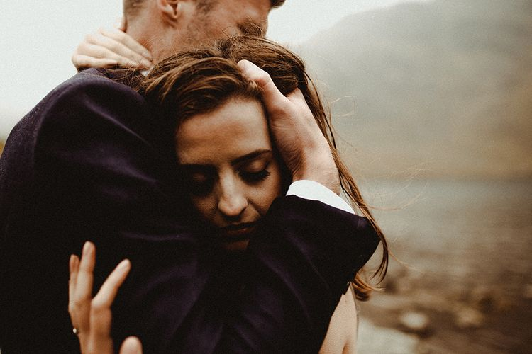 Atmospheric, Moody Pre Wedding Engagement Shoot at Cwm Idwal in Snowdonia by Carla Blain Photography