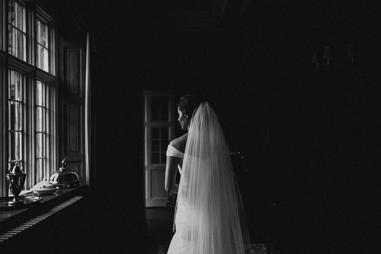 Elegant Black Tie Wedding At Dorfold Hall With Bride In Fishtail Gown Bridesmaids In Ghost And Images From Carla Blain Photography