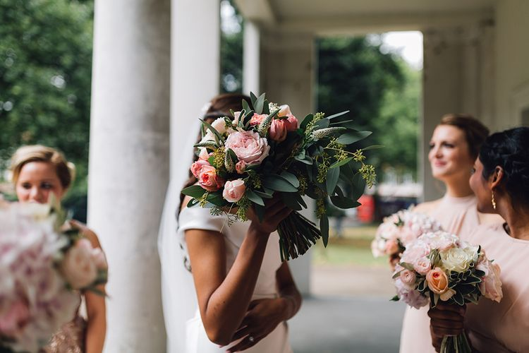 Pink Wedding Bouquet Flowers by Eve