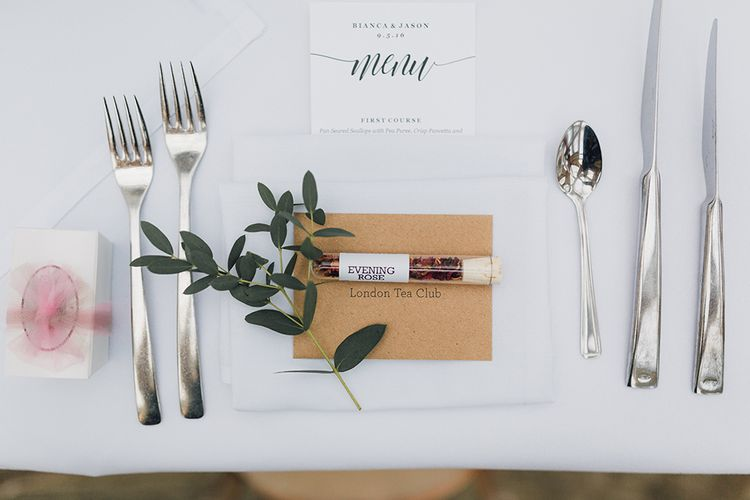 Elegant Simple Place Setting For Wedding