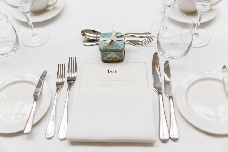 Place Setting & Wedding Favour