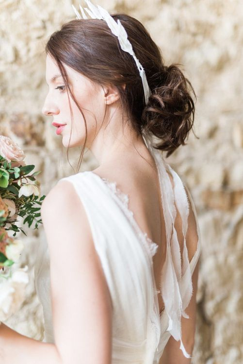 Bridal Beauty | Romantic Blush Wedding Inspiration by The Wedding Stylist at Notley Abbey with Joanna Truby Flowers | Emma Pilkington Photography | Opaline Films
