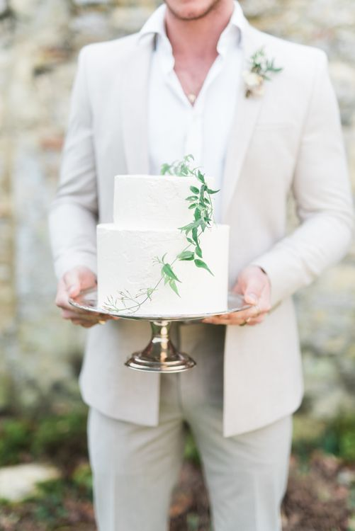 Butter Beautiful Wedding Cake | Romantic Blush Wedding Inspiration by The Wedding Stylist at Notley Abbey with Joanna Truby Flowers | Emma Pilkington Photography | Opaline Films