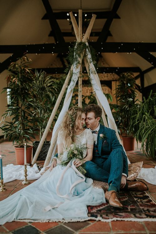 Bohemian Wedding Inspiration   Images by Lola Rose Photography   Styling by The White Emporium   Stationery by Sugar & Spice Designs   Venue South Farm