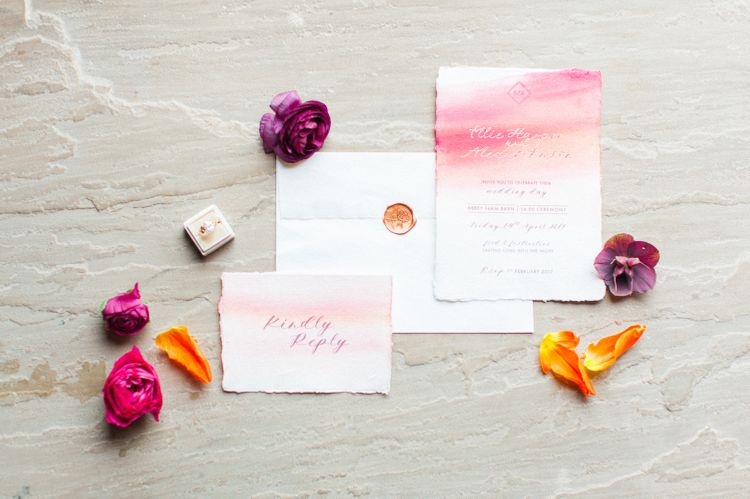 Water Colour Stationery Suite by Rose Press