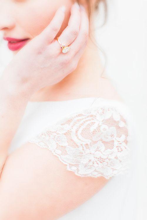 Jesus Peiro Wedding Dress Sleeve Detail