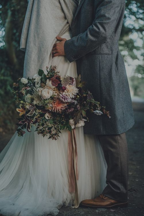 Autumn Wedding Bouquet With Flowers Grown And Arranged by The Garden Gate Flower Company