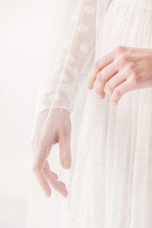 Dot polka dot wedding veil