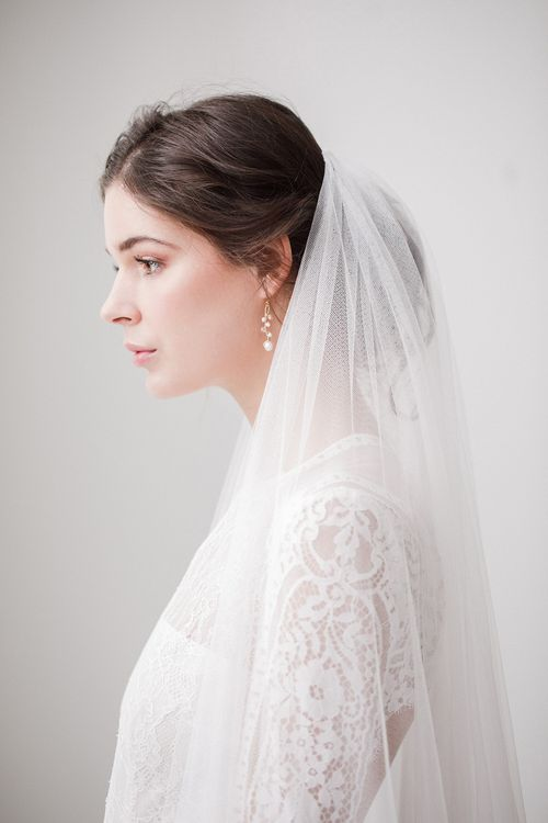 Isabella silk style wedding veil