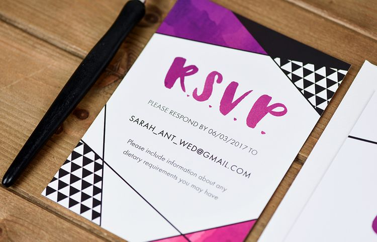 R.S.V.P. Brush Lettering by Letters by Julia