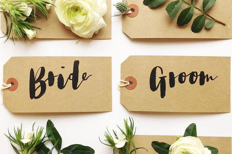 Name Cards. Brush Lettering by Olive & Bramble 2