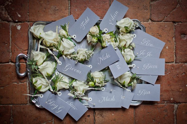 Wedding Name Cards. Calligraphy by Emily & Jo