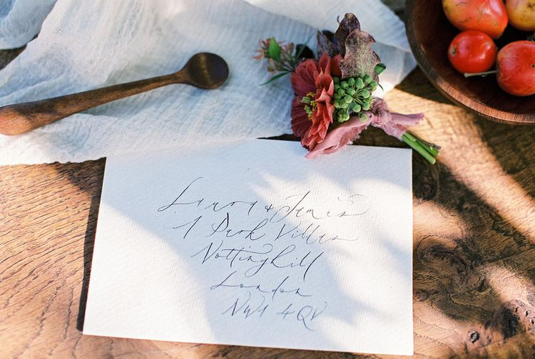 Wedding Stationery Envelopes. Calligraphy by Gemma Milly Calligraphy
