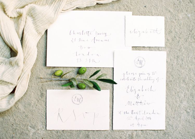 Wedding Stationery. Calligraphy by Gemma Milly Calligraphy