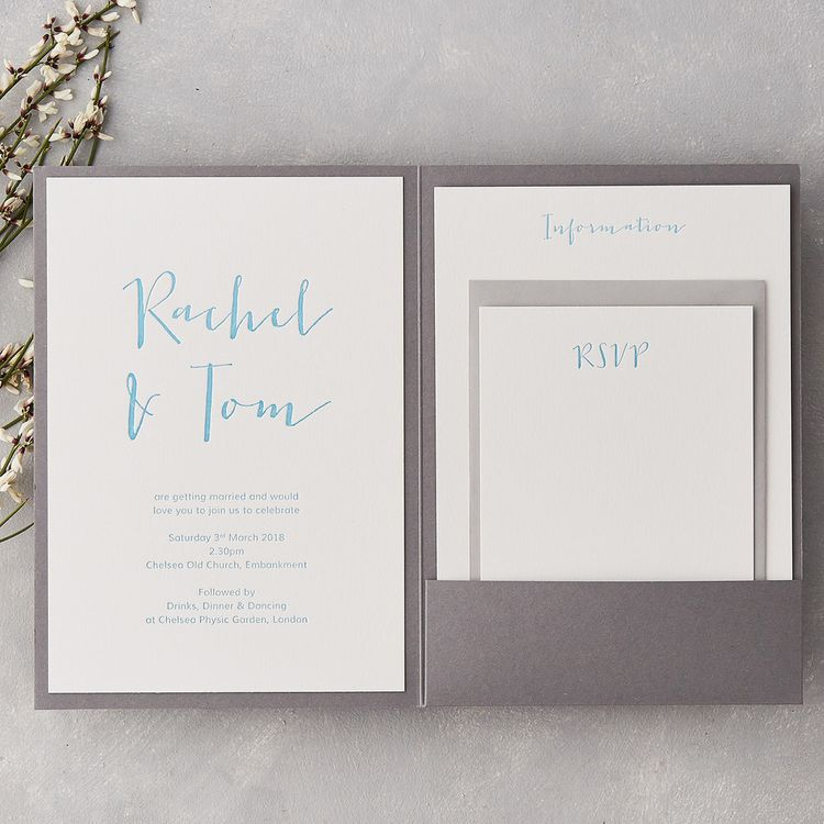 Wedding Stationery with Calligraphy by Wolf & Ink