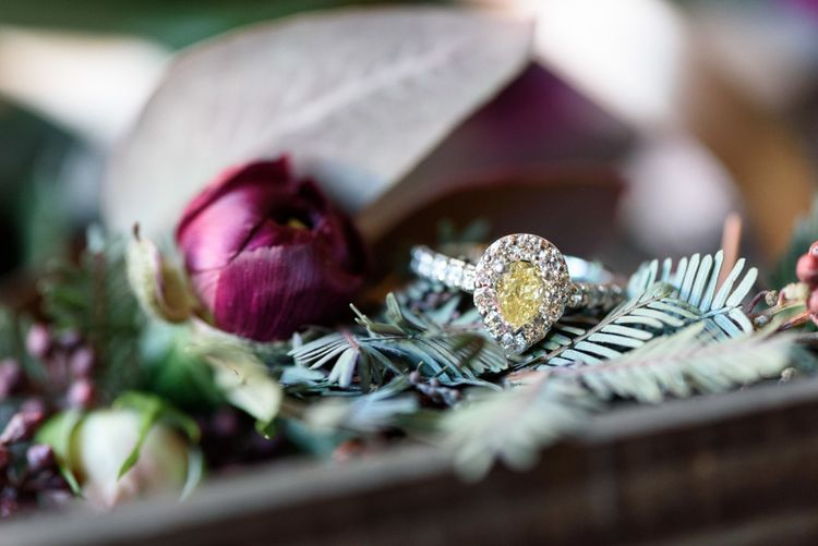Rustic Buttonhole Hole For Wedding With Purple Ribbon