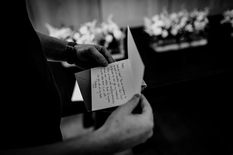 Wedding Morning Love Note | Benjamin Stuart Photography