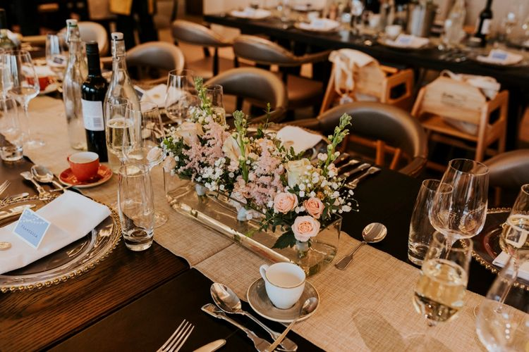 Floral Table Centrepieces | Coppa Club, Sonning Wedding | Benjamin Stuart Photography