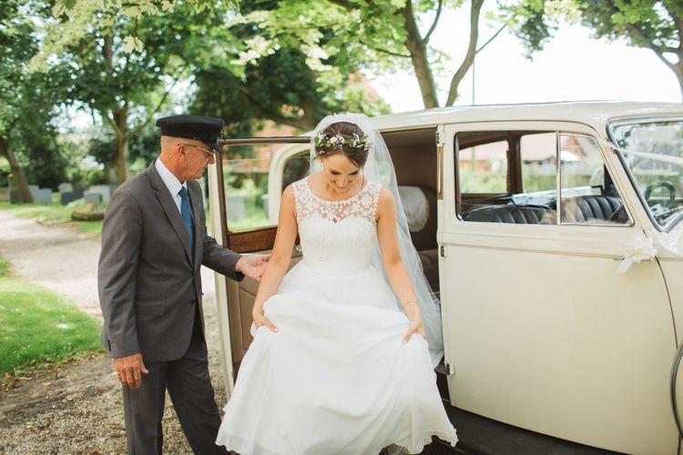 Bride in Lace Bodice & Ingrida Bridal Wedding Dress