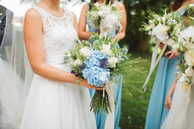 Blue & White Bridal Bouquet