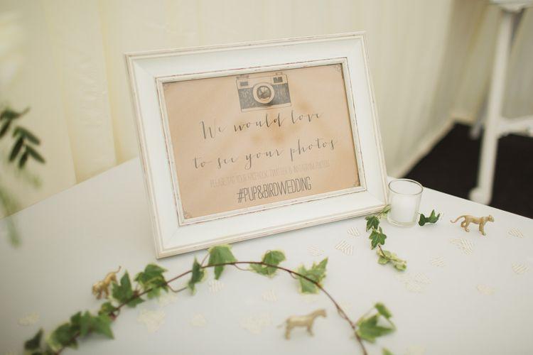 Instragram Hashtag Wedding Sign