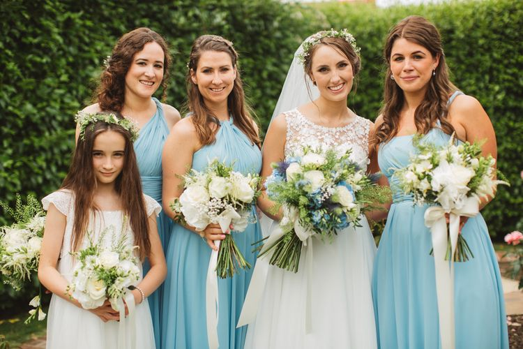 Bridal Party in Blue For Her and For Him Dresses