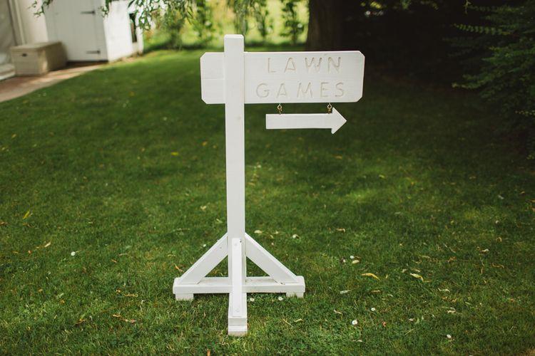 Garden Games Wedding Sign