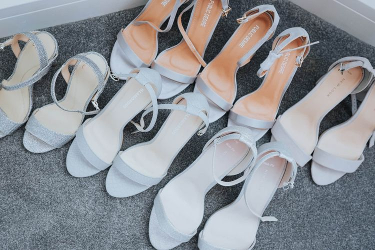 Bridesmaids Shoes   White & Green Outdoor Wedding at The Red Barn, Kent   Olegs Samsonovs Photography