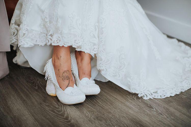 Irregular Choice Wedding Choice   Bride in Justin Alexander Gown   White & Green Outdoor Wedding at The Red Barn, Kent   Olegs Samsonovs Photography