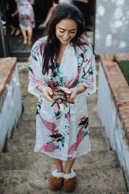 Bride Wedding Morning Present   White & Green Outdoor Wedding at The Red Barn, Kent   Olegs Samsonovs Photography