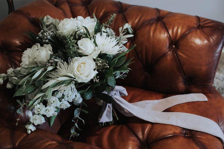 White & Green Wedding Bouquet   White & Green Outdoor Wedding at The Red Barn, Kent   Olegs Samsonovs Photography