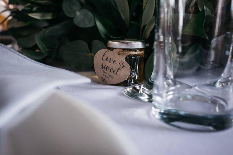 Honey Wedding Favours   White & Green Reception at The Red Barn, Kent   Olegs Samsonovs Photography