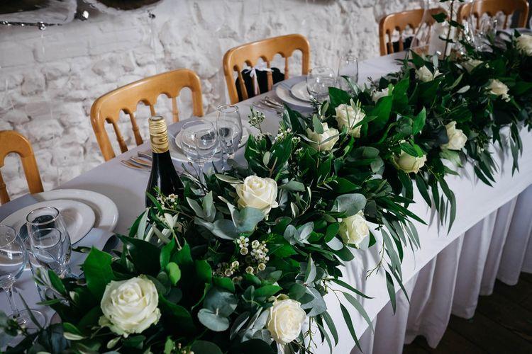 White & Green Wedding Flowers at The Red Barn, Kent   Olegs Samsonovs Photography
