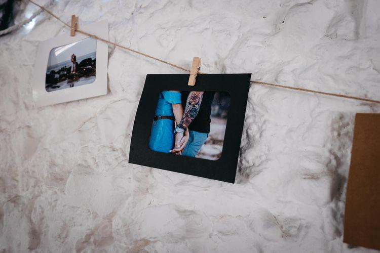 Polaroid Picture Wedding Decor   White & Green Reception at The Red Barn, Kent   Olegs Samsonovs Photography