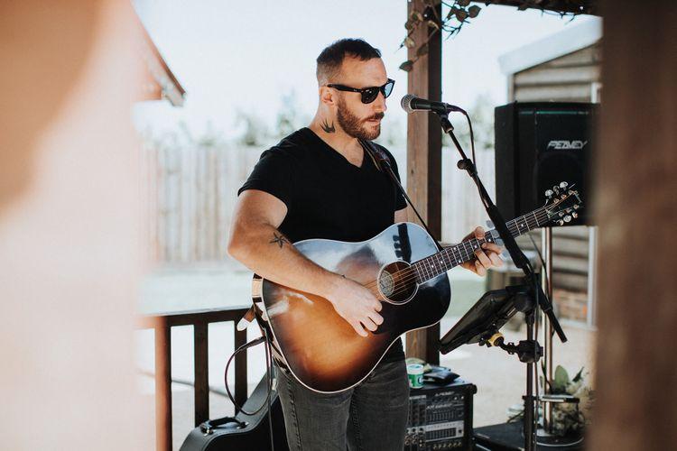 Guitarist Wedding Entertainment   White & Green Reception at The Red Barn, Kent   Olegs Samsonovs Photography