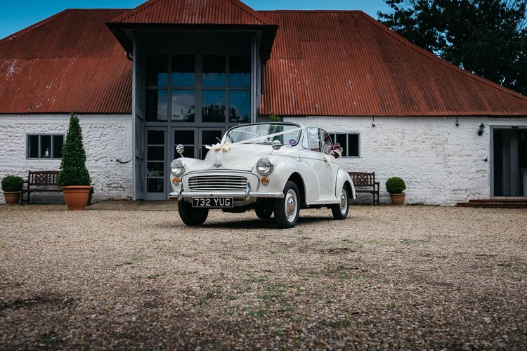 Wedding Car   White & Green Reception at The Red Barn, Kent   Olegs Samsonovs Photography