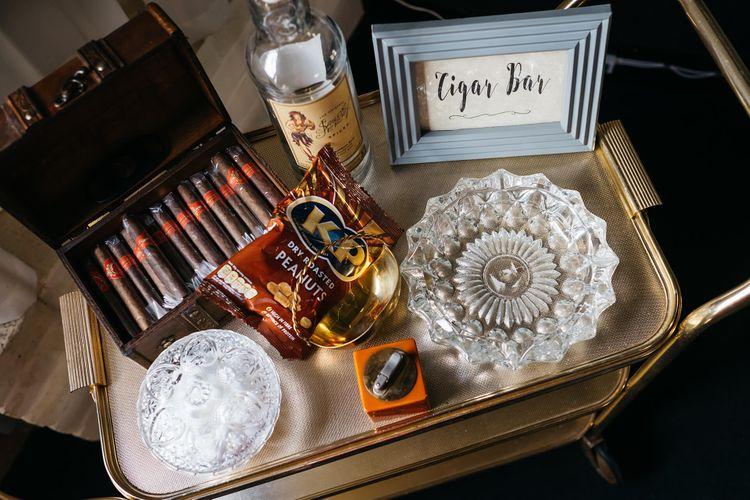 Cigar Bar   White & Green Reception at The Red Barn, Kent   Olegs Samsonovs Photography