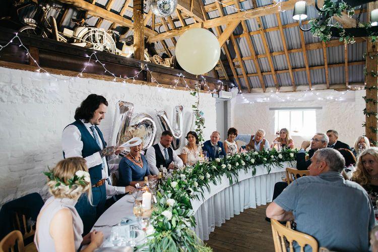Speeches   White & Green Reception at The Red Barn, Kent   Olegs Samsonovs Photography
