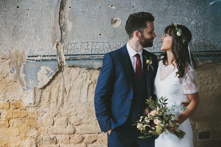 Bride In Charlie Brear Wedding Dress