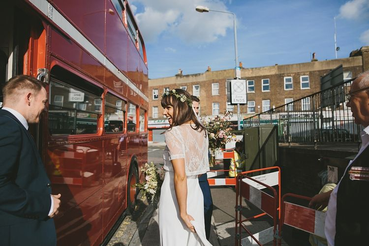 Red London Bus For Wedding Transport