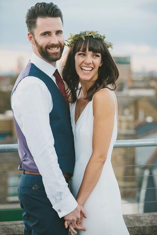 Rooftop Portraits of Bride & Groom